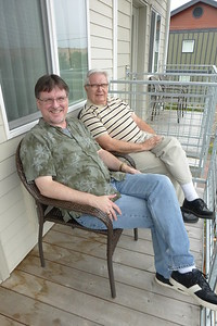 Pop and Mike on the deck.