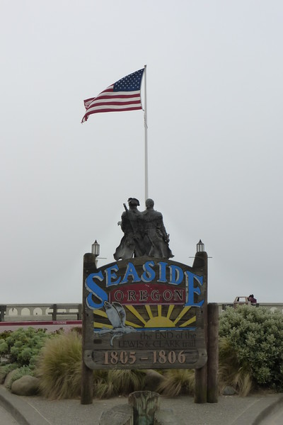 The end of the Lewis and Clark Trail. Seaside Oregon.