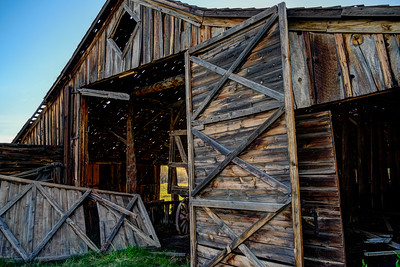 The Long Barn at the abandoned P-Ranch