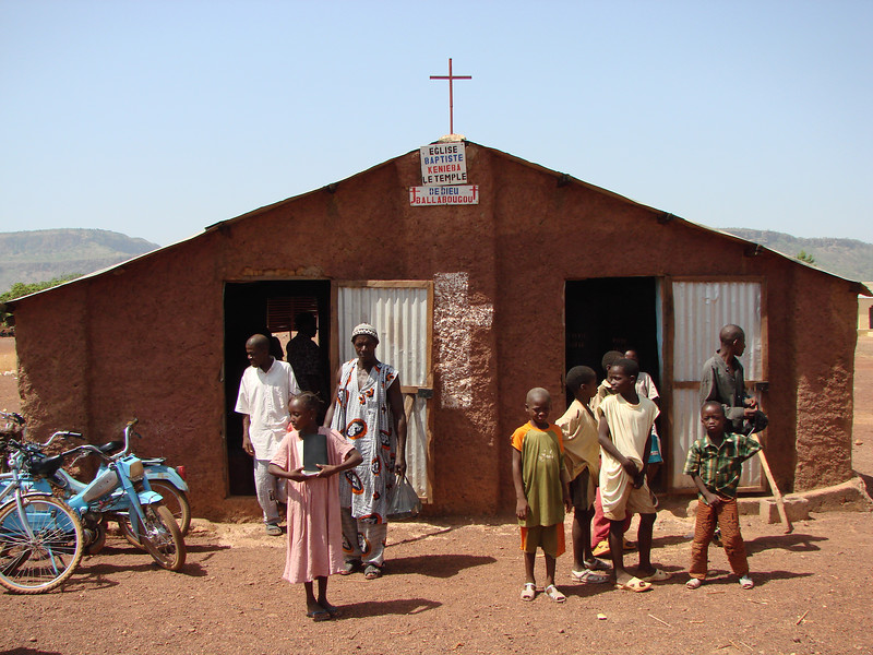 Baptist church in Kenieba, Mali