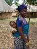 Yalunka young woman and baby in Falea, Mali