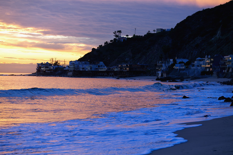 Malibu, California, Sunset - January 2012
