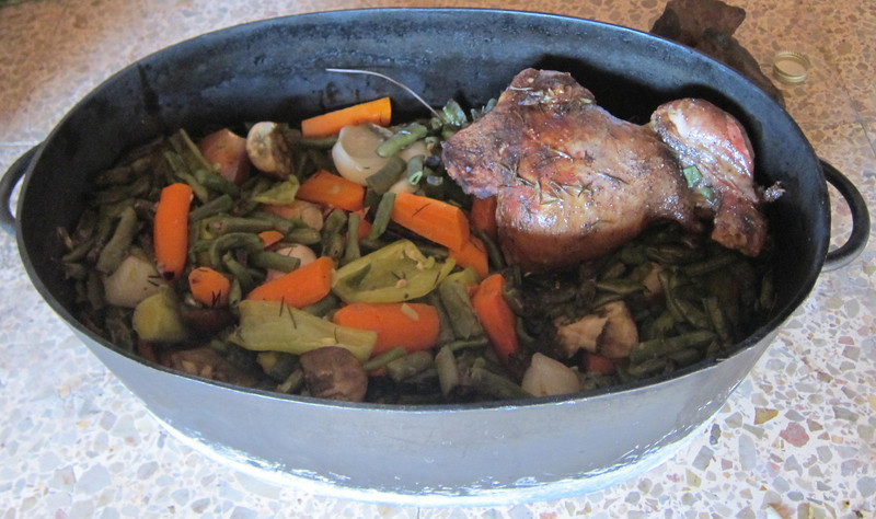 Leg of lamb and veggies