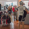 Or hotels have a bike shop, well okay a bike clothing store, in the lobby? Pretty amazing.