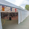 Heading out back of the hotel..you find this. A huge tent...with room for 1000 bikes.