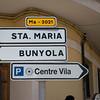 Heading toward the towns of Santa Maria and Bunyola, where the climb begins.