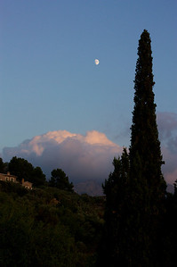 Moonrise from the villa terrace
