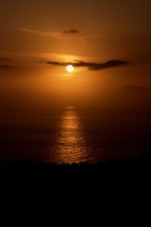Sunset from the villa terrace