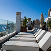 Hotel roof terrace