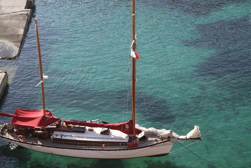 sailboat near Popeye's Village