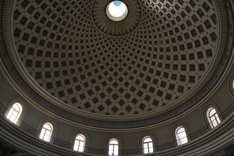 Mosta Church Dome, one of the largest Church Domes in the world.