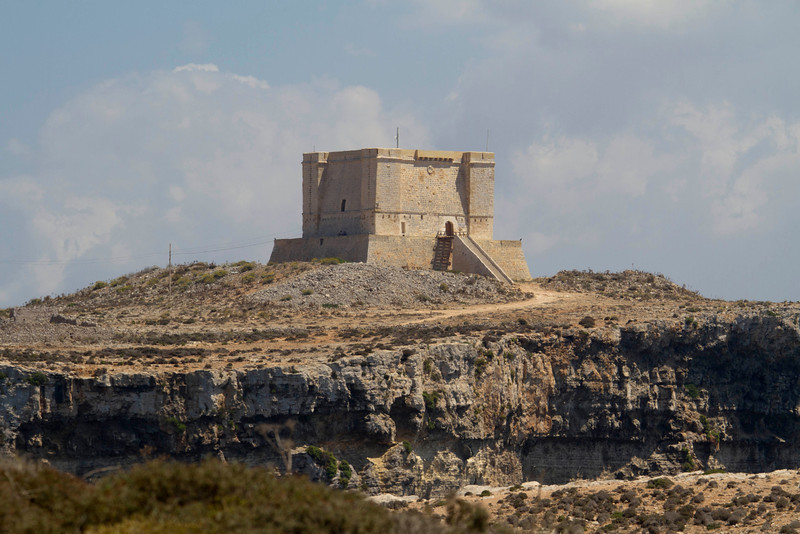 St. Mary's Tower on the island of Comino built circa 1618