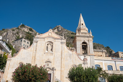 Church in the village of Taormina.