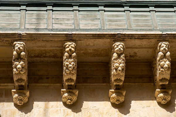Detail of the balcony decoration.