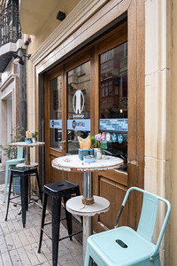 Valleta streets were lined with small cafes.