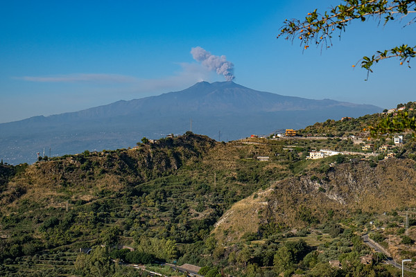 Mt. Etna from Taormina.
