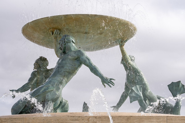 The Triton Fountain, just outside the city walls.
