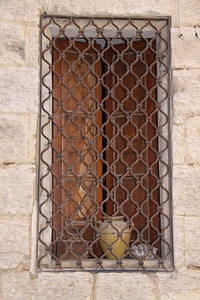 A house window in the Collachio area of Vittoriosa