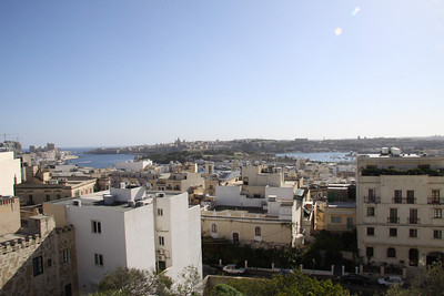 View of Valetta from apartment in St. Julians