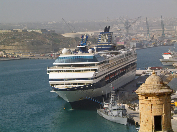 The Celebrity Galaxy in port in Valletta