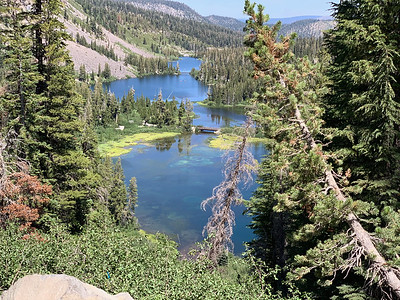 Twin Lakes view from the upper end