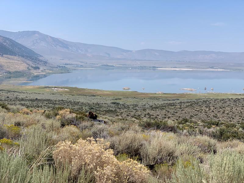 The Sierra slope down to Mono Lake