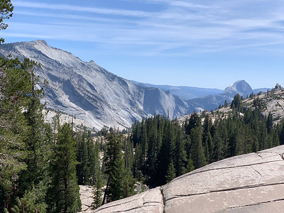 Clouds Rest and Half Dome from Olmstead Point