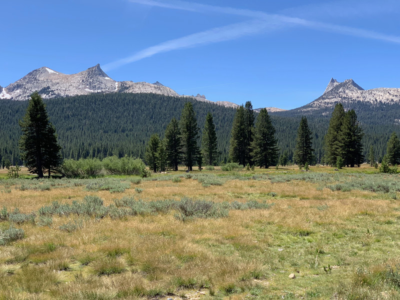 Peaks west of Tuolumen Meadows