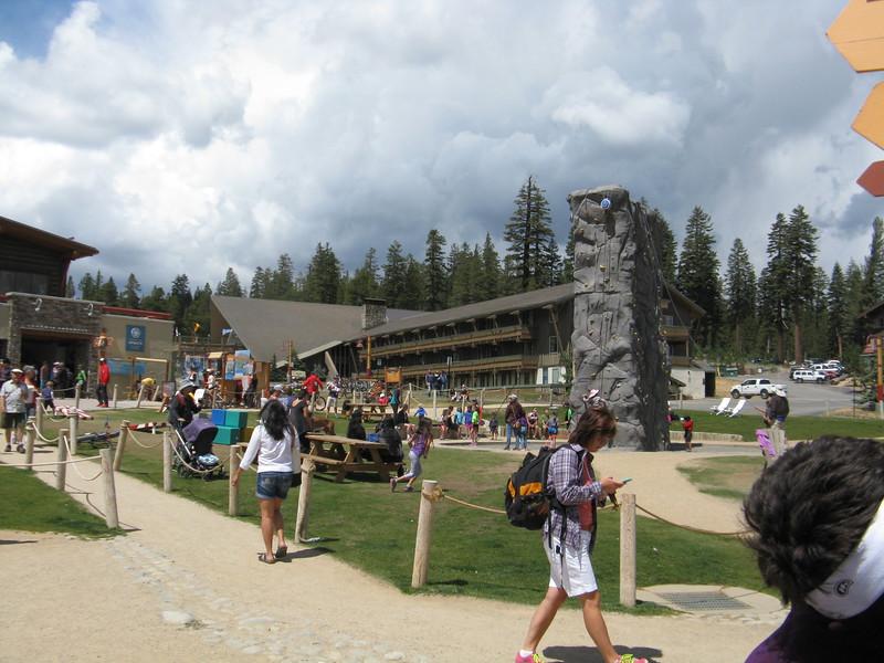 Rock climbing wall at the Adventure center.