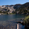 Mammoth Crest behind Crystal Crag Lake.