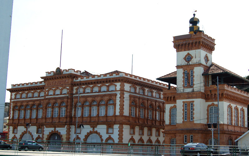Manaus Customs Building. The City became rich from Rubber Exports