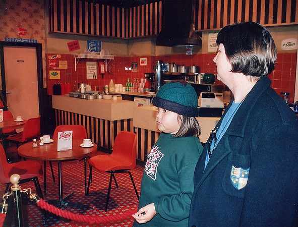 Tuck shop, Coronation St set Granada studios Manchester England - 1996