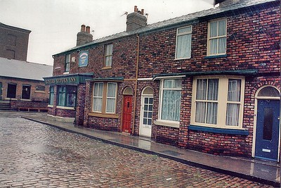 Coronation St set Granada studios Manchester England - 1996