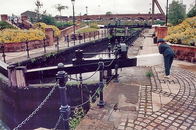Canal gates Manchester England - 1996