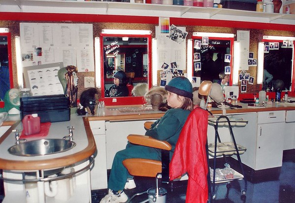 Make up room Granada studios Manchester England - 1996