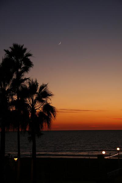 Just past sunset at Manhattan Beach