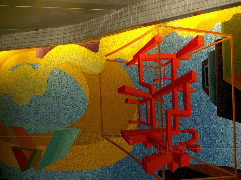 Mosaic inside NYC subway system