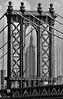 Manhattan Bridge, Brooklyn, NY and Empire State Buliding from the Brooklyn Bridge, after Michael Feeman.