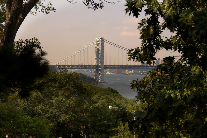 The George Washington Bridge from the Cloisters