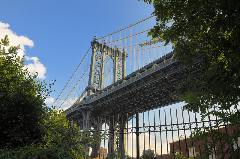 Manhattan Bridge from Fulton-Empire Park.