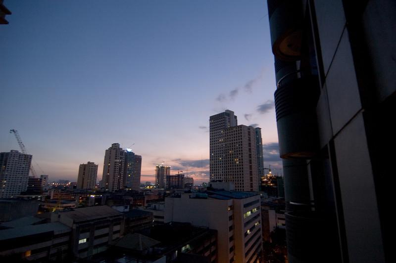 Sunset over Makati