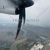 Aircraft landing approach at Ninoy Aquino International Airport in Manila, Philippines.
