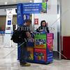 Vendor selling prepaid phone sim cards inside terminal 1 of Ninoy Aquino airport in Manila, Philippines.