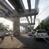 Highway under construction in Manila, Philippines.