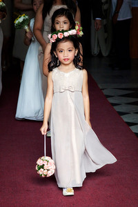Flower girl at a Philippino wedding