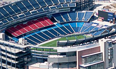 Foxboro Stadium from above