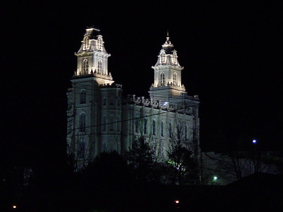 Manti Temple at Night