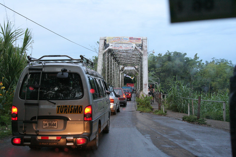 One of the single lane bridges on our way from San Jose to the Manuel Antonio area.