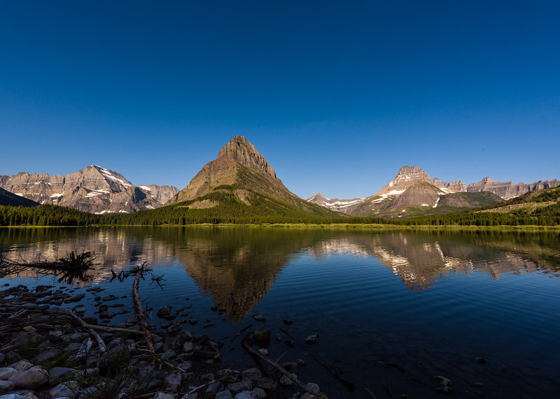 Shores of Swiftcurrent Lake