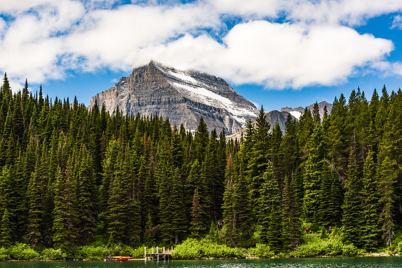 Dock at head of Swiftcurrent Lake